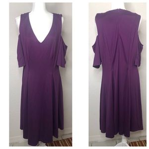 Eloquii Size 16 Plum Purple Plus Size Dress